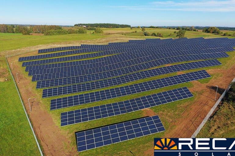 Realizacja fotowoltaiczna w województwie warmińsko-mazurskim o mocy 1 MW