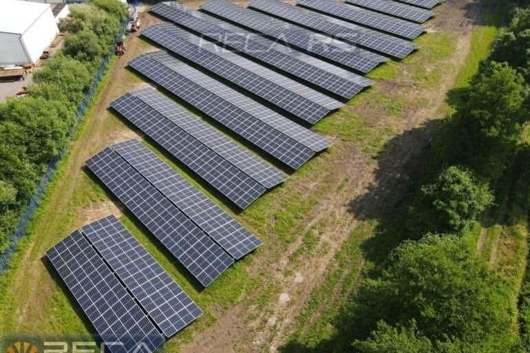 Realizacja farmy fotowoltaicznej w układzie wschód-zachód o mocy 750kwp w Wagenfeld na terenie Niemiec.